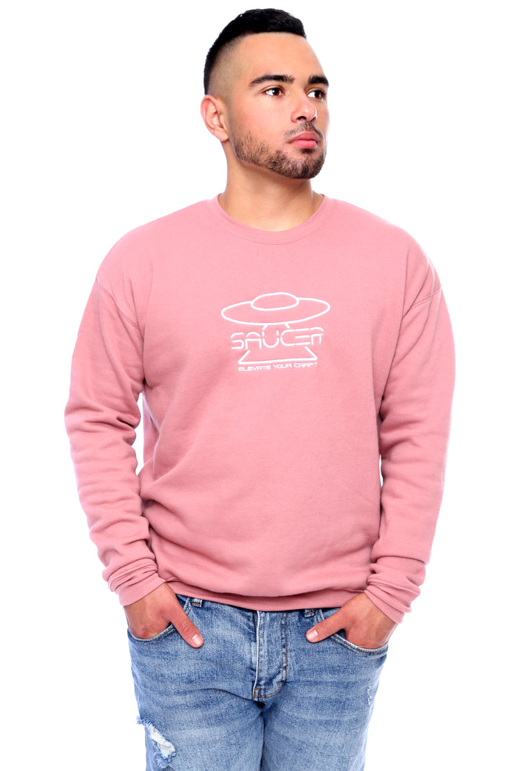 Mauve Pullover Crewneck Model View