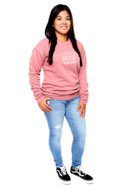 Mauve Pullover Crewneck Full Model View