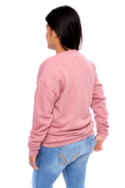 Mauve Pullover Crewneck Back View