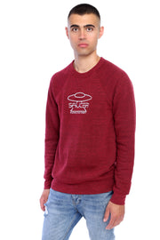 Berry Red Pullover Crewneck Model View
