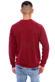 Berry Red Pullover Crewneck Back View