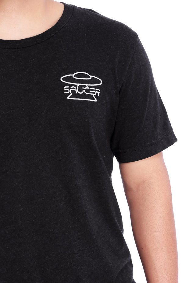 Black Triblend T-Shirt Detail View