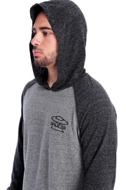 Charcoal/Grey Performance Hoodie Hood View
