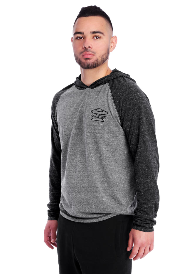 Charcoal/Grey Performance Hoodie Model View