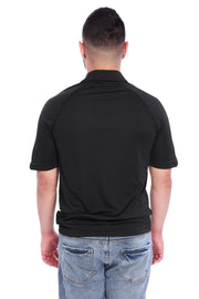 Black Performance Polo Shirt Back View