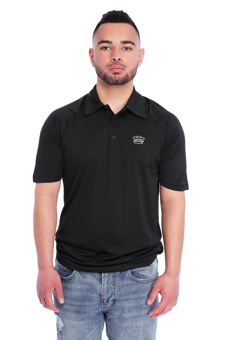 Black Performance Polo Shirt Model View