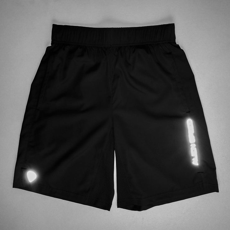 Alien Speed Black Training Shorts (Reflective)