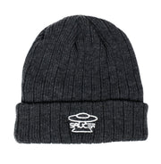 Saucer Shadow Grey Knit Logo Beanie