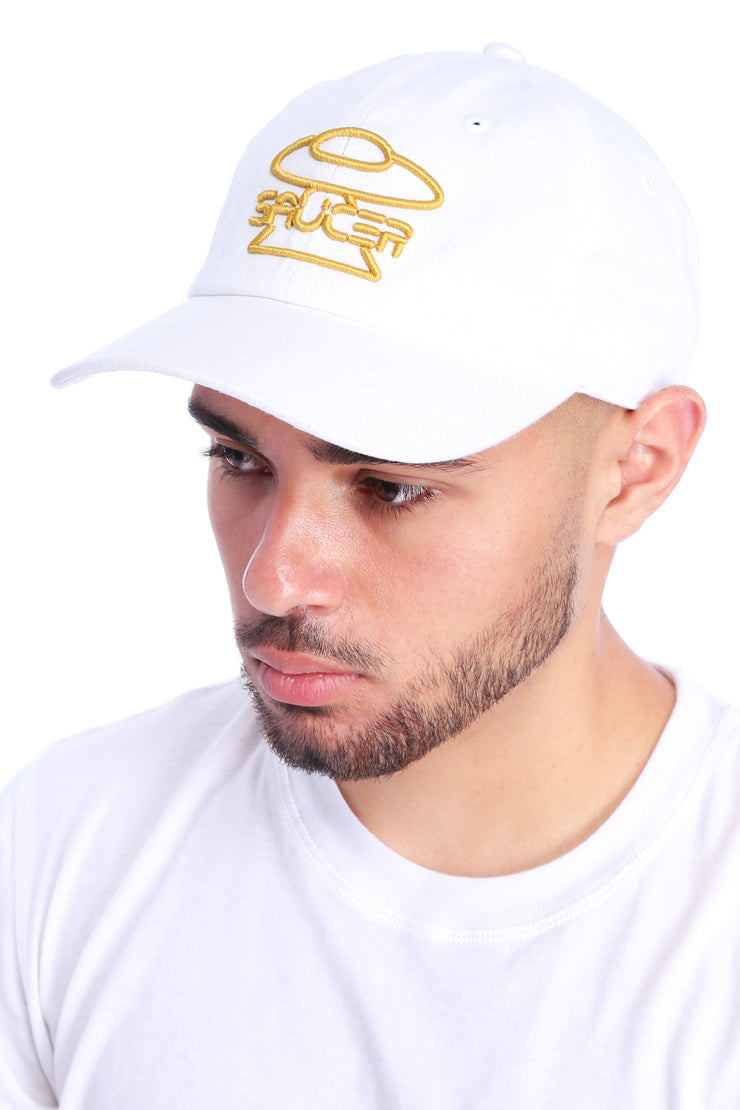White Legendary Classic Hat (Gold Edition) Model View