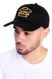 Black Legendary Classic Hat (Gold Edition) Model View 2