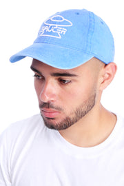 Washed Azure Dad Hat View 1