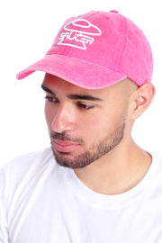 Washed Magenta Pink Dad Hat View 2