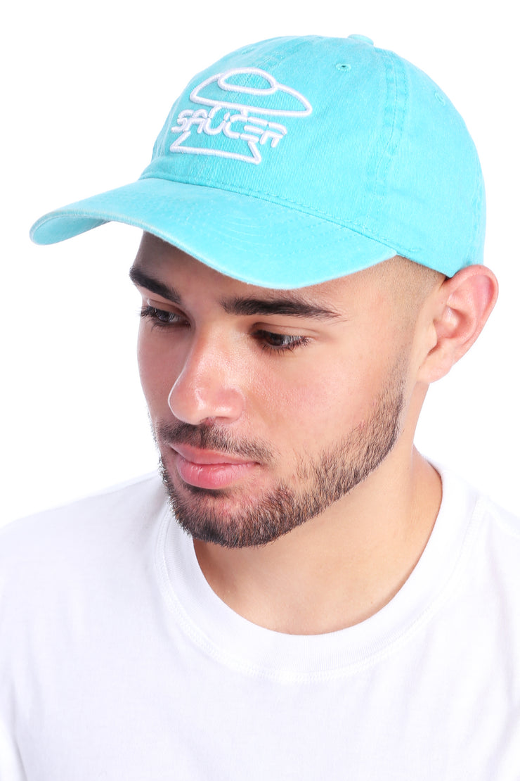 Washed Turquoise Dad Hat View 2