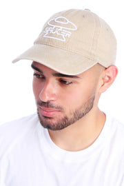 Washed Beige Dad Hat View 2