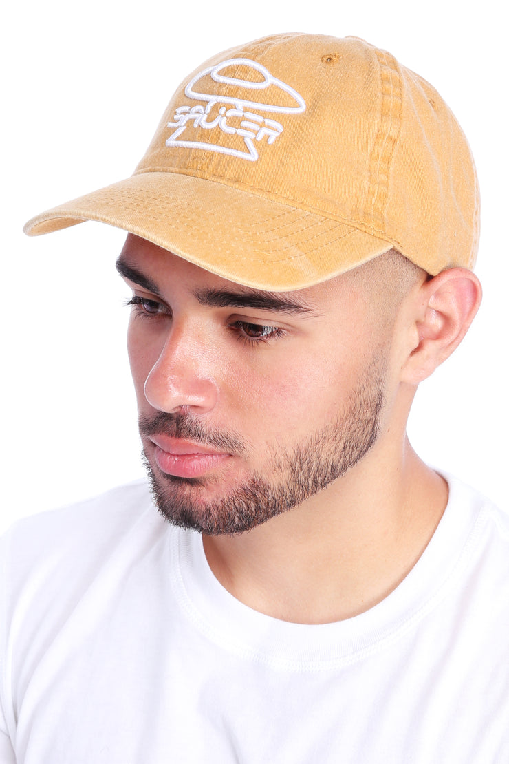 Washed Mustard Dad Hat View 2
