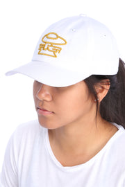 White Legendary Classic Hat (Gold Edition) Model View 2