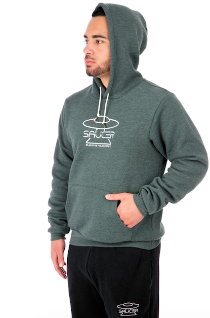 Pine Green Pullover Hoodie Model View