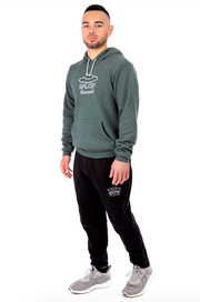 Pine Green Pullover Hoodie Full Model View