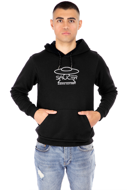 Pitch Black Pullover Hoodie Model View