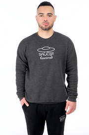 Charcoal Grey Pullover Crewneck Model View