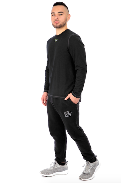 Black Long Sleeve Tee Full Model View