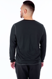 Black Long Sleeve Tee Back View