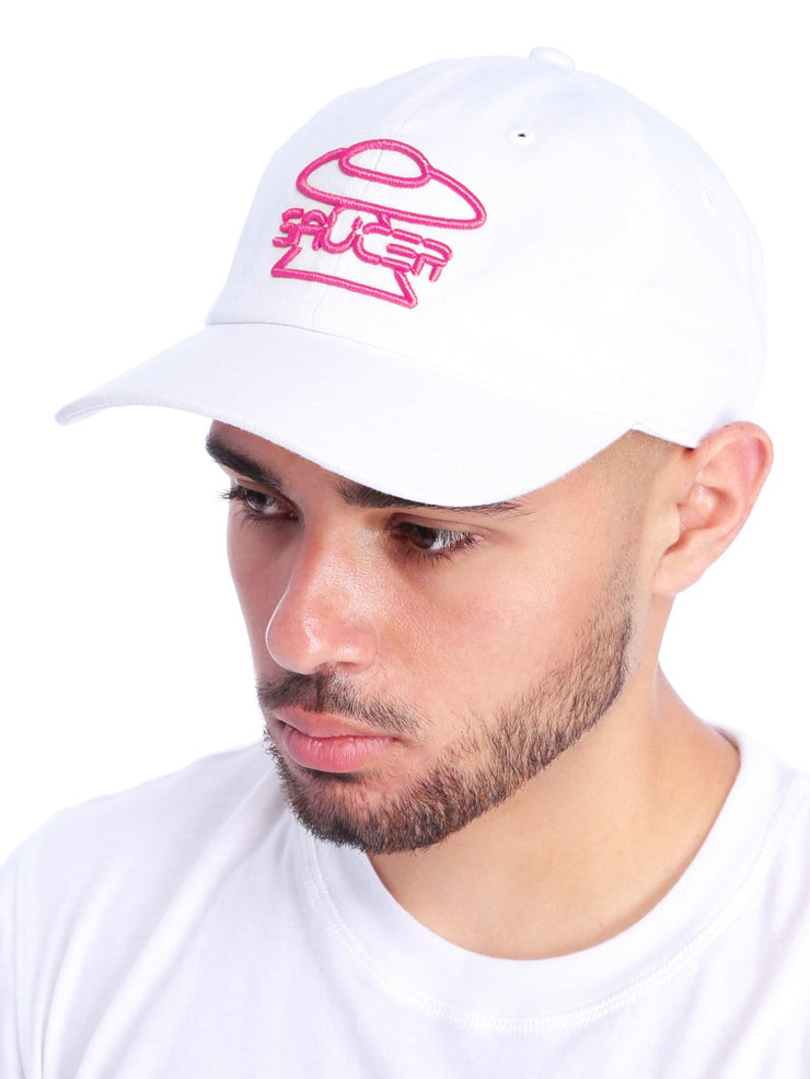 White Legendary Classic Hats (Pink Edition) Model View