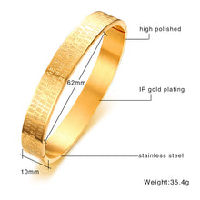 "Load image into Gallery viewer, Bracelet - Elegant bracelet with ""The Heart Sutra"" in gold color"