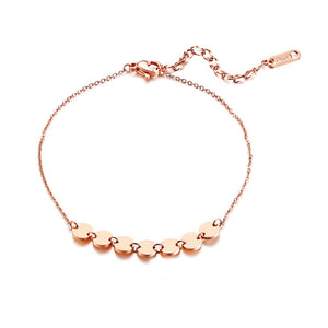 Fashion Jewelry - Anklets - Elegant Anklets 7 circles shape in rose gold color