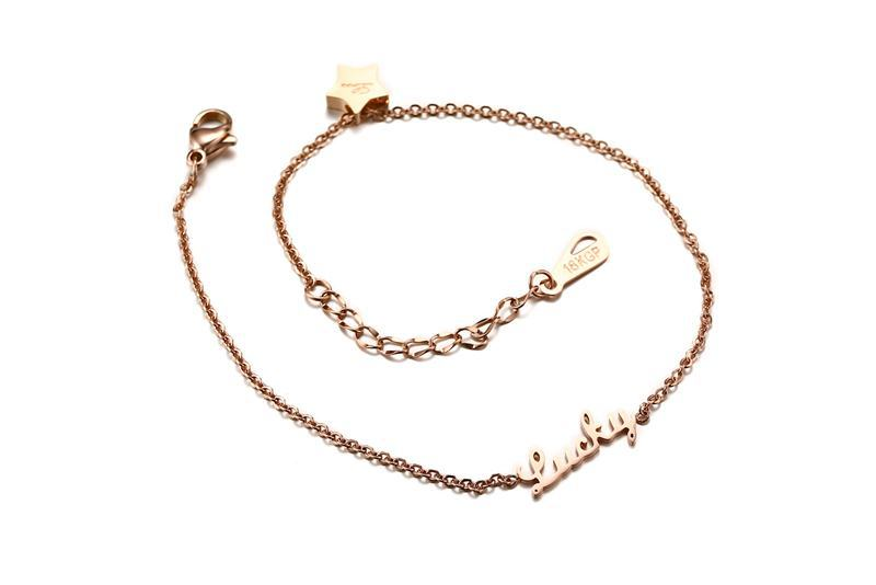 Fashion Jewelry - Anklets - Elegant Anklets Lucky Star shape in rose gold color