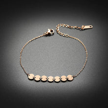 Load image into Gallery viewer, Fashion Jewelry - Anklets - Elegant Anklets 7 circles shape in rose gold color