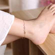 Load image into Gallery viewer, Fashion Jewelry - Anklets - Elegant Anklets Love design in rose gold color
