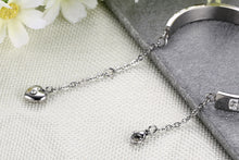 Load image into Gallery viewer, Bracelet - .Elegant bracelet with shiny rhinestones extend chain with pendant in heart shape.