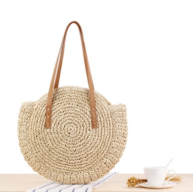 Fashion Ladies' bag - ECO-friendly new women handbag Round Shape Shoulder  Clutch in White color