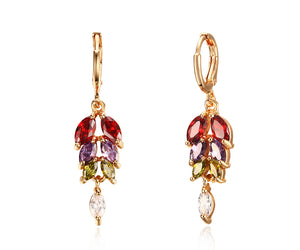 Earrings - Elegant colors  design with AAA cubic zirconia