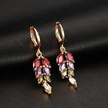 Load image into Gallery viewer, Earrings - Elegant colors  design with AAA cubic zirconia