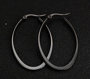 Earrings -Fashion big circle shape  in black color