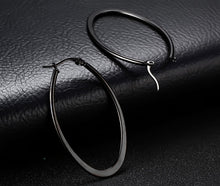 Load image into Gallery viewer, Earrings -Fashion big circle shape  in black color
