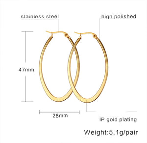 Earrings -Fashion big circle shape  in gold color
