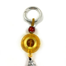 Load image into Gallery viewer, Liuli Crystal Glass - Chinese style Liuli Keychain - Brown color