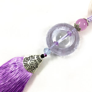 New arrival Chinese style Liuli Keychain - Purple color
