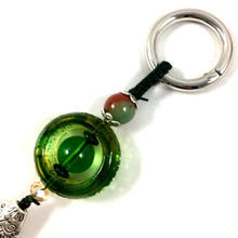 Load image into Gallery viewer, Amore Jewell Liuli Crystal Glass - Chinese style Liuli Keychain - Green color