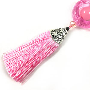 New arrival Chinese style Liuli Keychain - Pink color