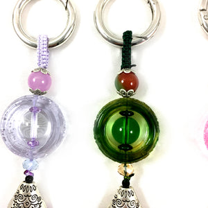Amore Jewell Liuli Crystal Glass ~ Chinese style Liuli Keychain - 4 colors/set ~ 鑰匙圈掛飾