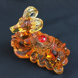 Amore Jewell Liuli Crystal Glass - Bring Wealthy Sheep ~ 富貴羊