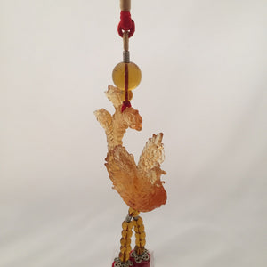 Amore Jewell Liuli Crystal Glass - Phoenix  wealth for car hanging ornament