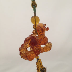 Amore Jewell Liuli Crystal Glass - Auspicious Chinese Spirit Beast for car hanging ornament