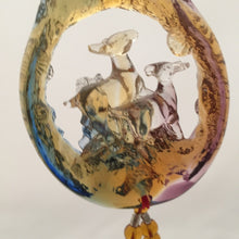 "Load image into Gallery viewer, Liuli Crystal Glass - Three Goats Start Fortune ""San Yang Kai Tai"" for car hanging ornament"