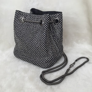 Fashion Ladies' bag - Diammante Rhinestone Clutch in Black color
