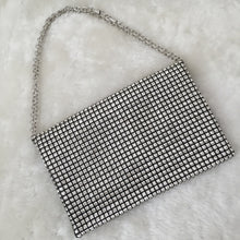 Load image into Gallery viewer, Fashion Ladies' bag - Diamonds Luxury Clutch in Silver color